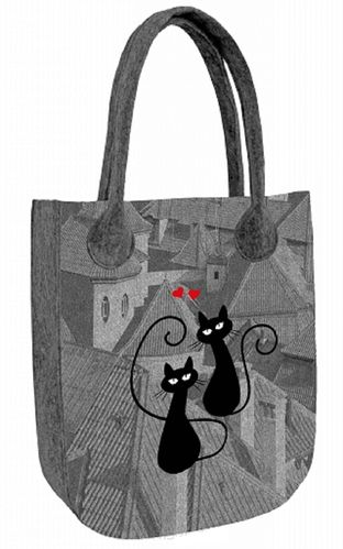 Filztasche »CITY Cats«