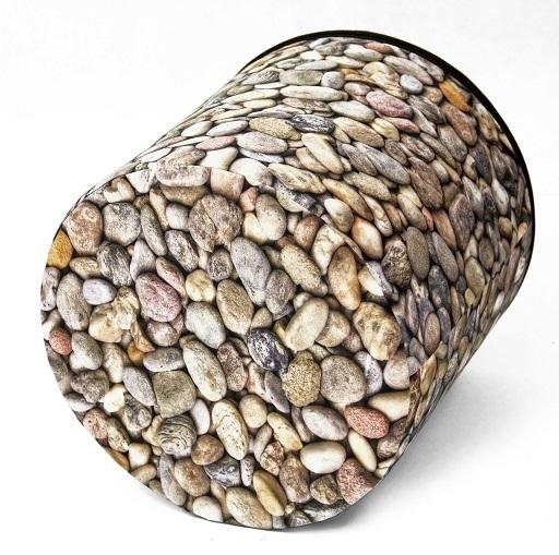 Pouffe kieselsteine pu12 bertoni grosshandel for Anthrazit kieselsteine