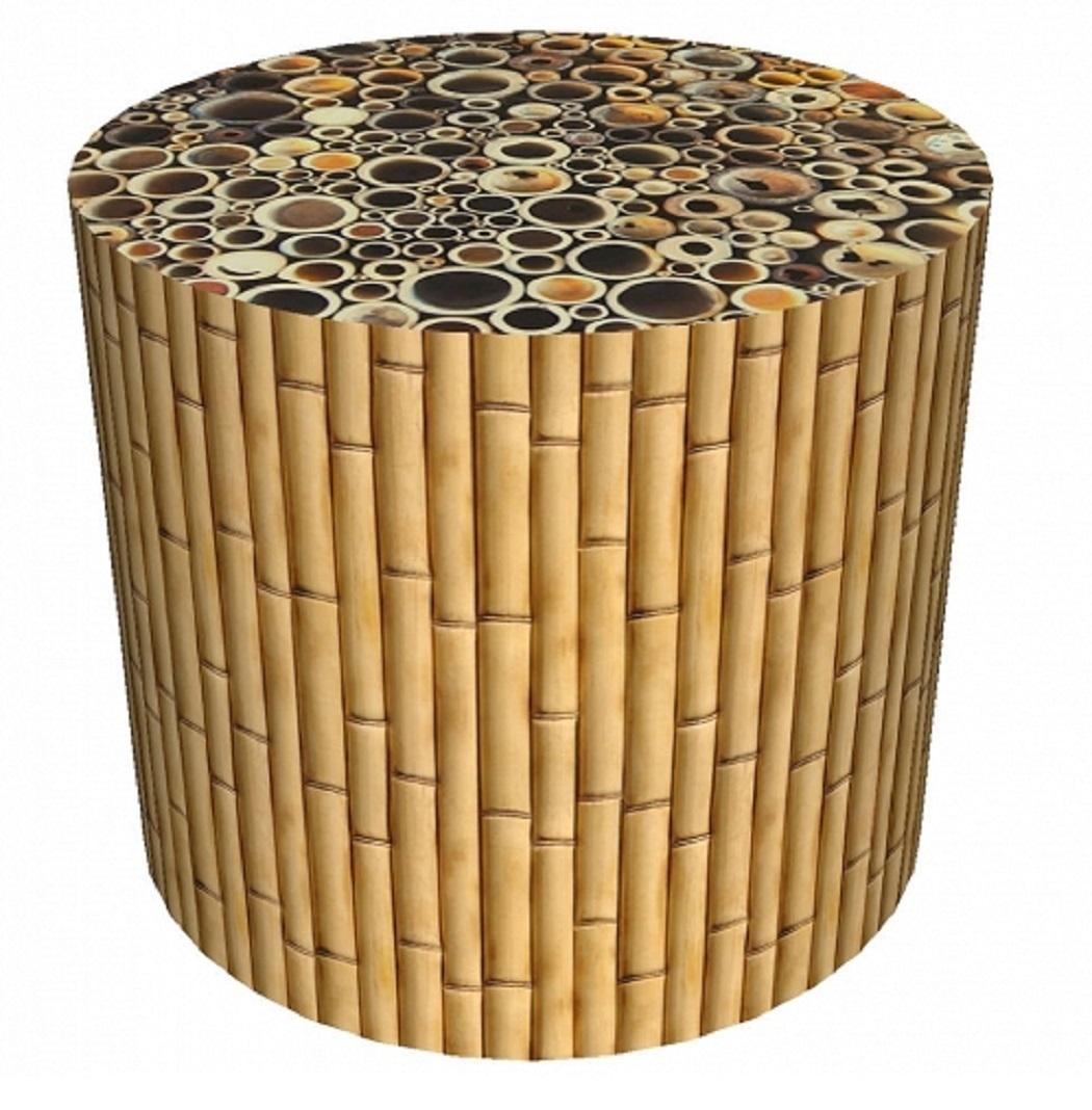 sitzpouf bambus pu19 m bel b2b online shop bertoni. Black Bedroom Furniture Sets. Home Design Ideas