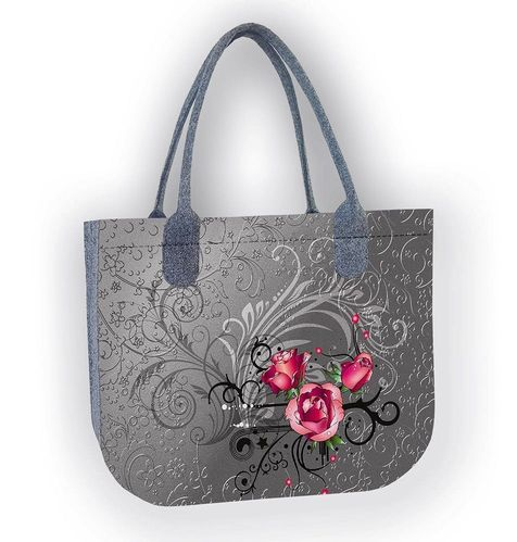 Shopper Filztasche LADY »Tatoo«