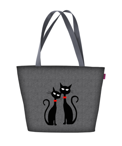 Stofftasche HOLIDAY »Black Cats«