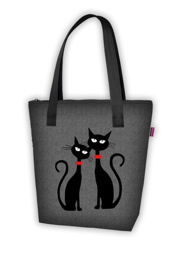 Stofftasche NEW VIVA »Black Cats« VN10